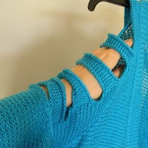 Love by design Sweaters - Electric Blue Cardian with arm slits